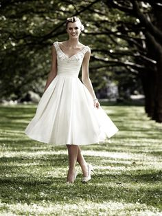 "Sharp wedding dress and lovely clavicles. (Mori Lee ""voyage"" wedding dress, style No. 6742.)"