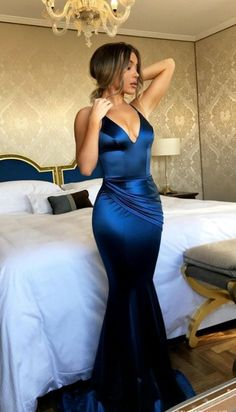 Mermaid Prom Dress,Royal Blue Prom/Evening Dress,Satin Prom Dresses,Long Evening Dresses, V Neck Charming Formal Gowns. Royal Blue Evening Dress, Blue Evening Dresses, V Neck Prom Dresses, Royal Blue Dresses, Prom Party Dresses, Party Dresses For Women, Sexy Dresses, Evening Gowns, Long Dresses