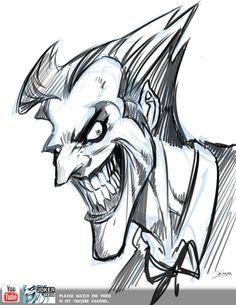 Joker - Sketch video by el-grimlock on deviantART