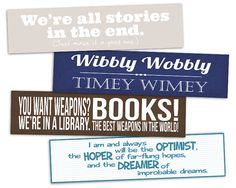 Printable Bookmarks  Doctor Who  Instant by AllTheBestQuotes, $3.50