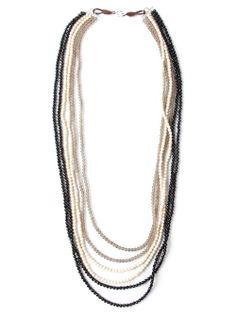 Brunello Cucinelli tri-colour beaded necklace. Resort 2014.