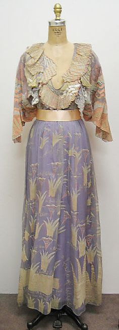 """Field of Lilies"" dress by Zandra Rhodes, British, 1971."