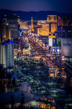 The view of the Vegas Strip from Foundation Room at House of Blue inside of Mandalay Bay.
