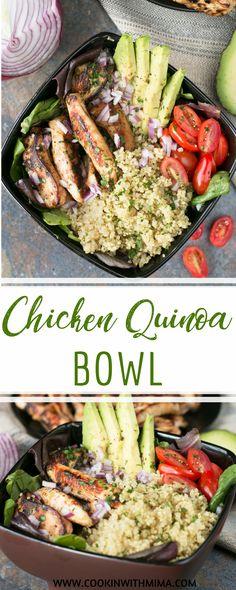 Chicken Quinoa Bowl | Chicken Recipes | Quinoa Recipes | Healthy Recipes | Cookin WIth Mima | #chickenquinoabowl #healthyrecipes #chickenrecipes #cookinwithmima