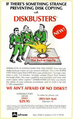 If There's Something Strange Preventing Disk Copying Call Diskbusters