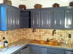 Rénovation de meuble de cuisine en résine epoxy