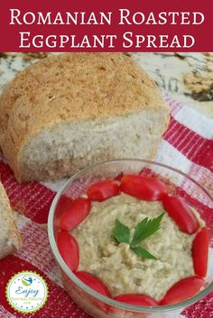 This roasted eggplant spread is the perfect comfort food, sporting a delicious smoky flavor. It's best on a crusty bread, but works with pita, chips and crackers too.