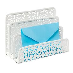 The Container Store > Brocade Letter Sorter $7.99    For letters and other paperwork that needs to be processed.