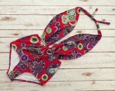 One Piece Swimsuit High Waisted Vintage Style Pin-up par Bikiniboo