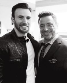 Pals onscreen and offscreen: Chris Evans and Robert Downey Jr.