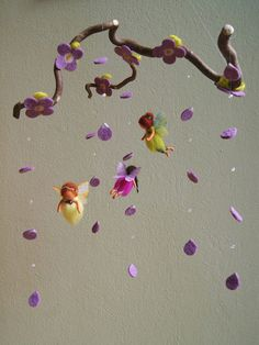 Mini spring fairies mobile  waldorf inspired von byNaturechild