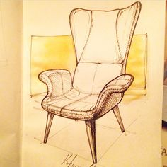 #sketch #sketching #sketchbook #chair #design #furniture #draw #graphic