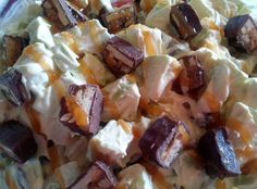 """Snickers Carmel Apple Salad (I found this on Facebook) - """"Super! :-)"""" @allthecooks #recipe"""