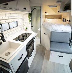 caravan interior 803892602224246753 - Caravan Decor 623818985870953452 Source by Modern Tiny House, Tiny House Design, Van Life, Camping Car Van, Glamping, Astuces Camping-car, Kombi Home, Camper Van Conversion Diy, Van Conversion With Bathroom