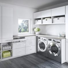 Laundry Room Cabinets, Laundry Appliances, Laundry Room Organization, Organization Ideas, Modern Laundry Rooms, Farmhouse Laundry Room, California Closets, Laundry Room Inspiration, Laundry Room Design