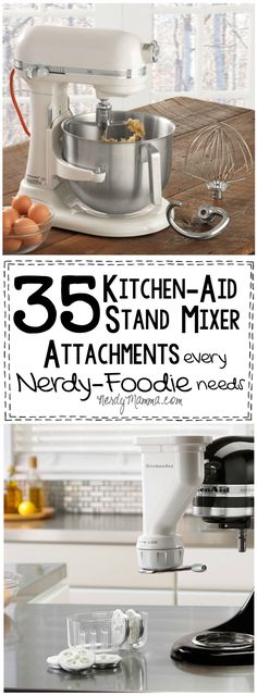 I love these 35 Kitchen-Aid Stand Mixer Attachments--what a great gift idea for a foodie! So easy, too...you can't go wrong.