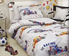 Mv Race Car Kids Bedding