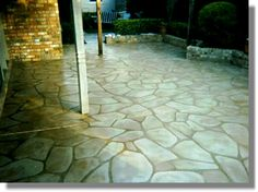 Imitation Flagstone - cracked concrete stained