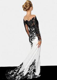 Elegant Stretch Satin Jewel Neckline See-through Full-length Mermaid Formal…