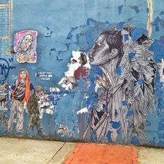 Artists are @swoonhq and @fumeroism at the barclays center in Brooklyn nyc street art Graffiti