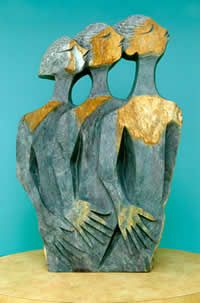 shona stone sculptures zimbabwe - The Messengers sculpture is a large-scale serpentine stone sculpture by renowned artist Lameck Bonjisi of Zimbabwe, who died of AIDS in 2003.Google Search