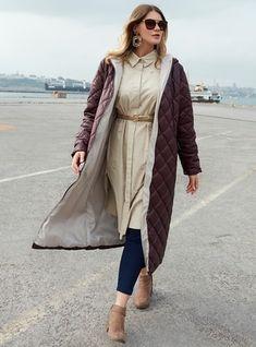 Kaz Tüyü Manto - Haki Vest, Jackets, Fashion, Moda, Fasion, Fashion Illustrations, Fashion Models, Vest Outfits, Cropped Jackets