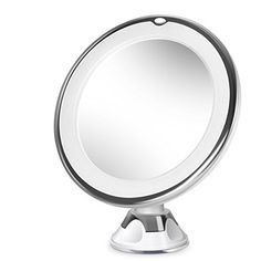 Beautural 10X Magnifying Lighted Vanity Makeup Mirror with Natural White LED 360 Degree Swivel Rotation and Locking Suction 689inches ** Want additional info? Click on the image. Note:It is Affiliate Link to Amazon.