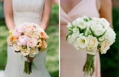 The bouquet on the left...