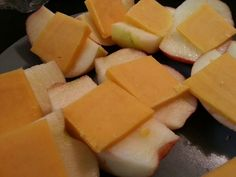 Healthy snack or dessert. Cheese and apples!
