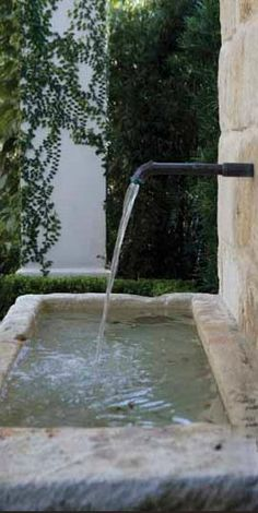 Stone Fountains via Chateau Domingue as seen on linenandlavender.net