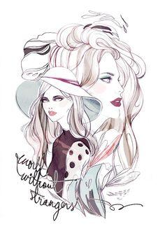 World Without Strangers - Soleil Ignacio Illustrations  #illustration #fashion #fashionillustration #beauty