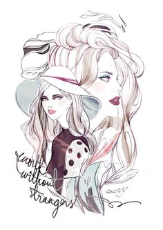 World Without Strangers - Soleil Ignacio Illustrations  #illustration #fashion #fashionillustration #beauty