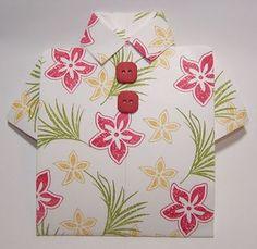 Tropical shirt card or luau invitation