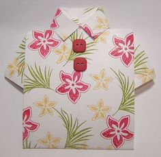 Tropical shirt card or luau invitation