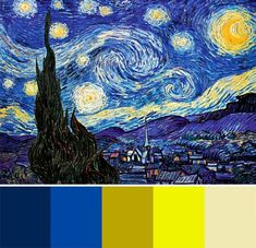 "Starry Night colors Piet Mondrian, Composition in Blue, Red and Yellow…wallpaper van gogh noite estrelada yellow blue aestheticiosonorockmaballoiltango: ""Jackson Pollock –…GICLEE PRINT de Danseur Abstrait Peinture Moderne… Arte Van Gogh, Van Gogh Art, Vincent Van Gogh, Painting Inspiration, Art Inspo, Desenhos Van Gogh, Van Gogh Paintings, Piet Mondrian, Painting & Drawing"