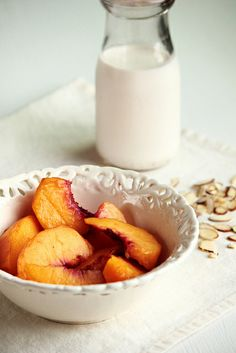 Peaches & Cream by pastryaffair, via Flickr