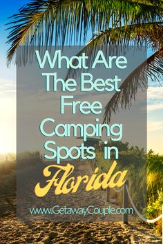 Free camping in Florida? Yep! We've gathered a few of our top picks for RV boondocking in Florida and can't wait to share them with you! Take your camper to beautiful destinations. Great for Florida hunting spots too! Camping Spots, Diy Camping, Camping With Kids, Camping Hacks, Rv Hacks, Family Camping, Florida Trail, Florida Camping, Adventure Activities