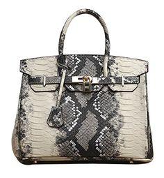 Ainifeel Women's Snakeskin Embossed Genuine Leather Padlock Bag with Shoulder Handbags Purses (30cm, Snakeskin-C) Ainifeel http://www.amazon.com/dp/B014JIOCLQ/ref=cm_sw_r_pi_dp_Dr0zwb0063383