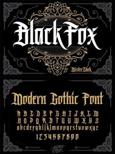 Black Fox font typography BlackLetter typeface FontDesign fonts GothicFont vintage bookcover creativemarket GraphicDesign design designresources BestDesignResources is part of Tattoo fonts alphabet - Gothic Lettering, Graffiti Lettering Fonts, Gothic Fonts, Tattoo Lettering Fonts, Lettering Styles, Typography Letters, Typography Logo, Font Tattoo, Serif Typeface