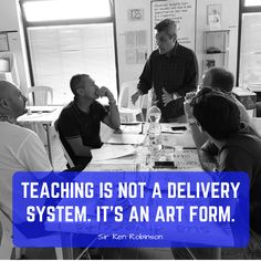 Teaching is not a delivery system.