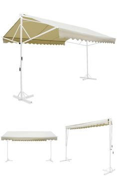 Large Standing Manual Awning Metal Outdoor Double Sided Shelter Canopy Sun Shade for sale online Canopies, Sun Shade, Shelter, Gazebo, Shades, Patio, Metal, Outdoor Decor, Home Decor