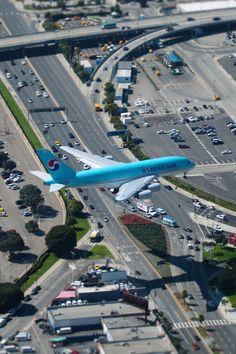 Korean Air Airbus A380-861 HL7621 on final approach for LAX.