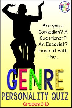 This genre personality quiz is designed to help middle and high school students identify which reading genres are best for them. You can use this lesson with little to no preparation–it's all ready to go! Reading Genres, Reading Logs, The New School, New School Year, Elmo, Reading Incentives, Back To School Activities, School Ideas, Reluctant Readers