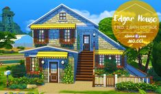 Edgar house at 4 Prez Sims4 via Sims 4 Updates