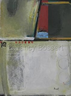 Evergreen, abstract acrylic painting, by Nancy Bossert