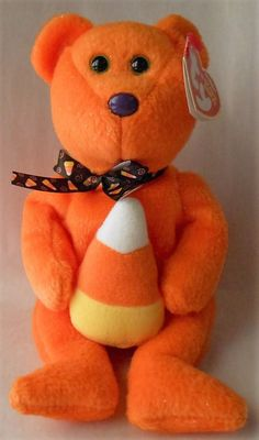 8426ec81350 Original TY Beanie Babies Treator the Candy Corn Bear Tag Errors 2007