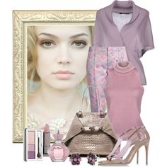 """""""Floral Pants in Lilac color"""" by gangdise on Polyvore"""