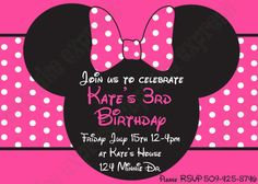 Items Similar To Minnie Mouse Pink PRINTABLE Birthday Party Invitation Black Girls First DIY On Etsy