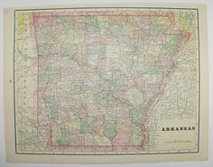 indian territory map oklahoma map arkansas 1894 historical map gift for history buff vintage travel map original 1800s map to frame by oldmapsandprints