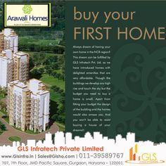Buy Your First Home From #GLSgroup  Now you can also own a flat in #Gurgaon at a price lower than Neemrana, Dharuhera or Bhiwadi. All the flats for GLS Group #ArawaliHomes, which comes under #HUDA (also known as Haryana Urban Development Authority) #affordablehousingscheme, will be allotted in one go under the supervision of a committee constituted for the purpose. #BuyYourFirstHome #affordablehousing #affordablehomesgurgaon #glsinfra #glsArawaliHomes #GurgaonAffordableHomes Buying Your First Home, Affordable Housing, Own Home, Purpose, Homes, Urban, Flats, Group, Canning